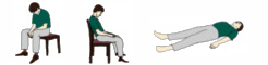 The different relaxation positions in autogenic training